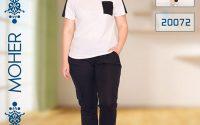 خرید ست تیشرت شلوار راحتی زنانه و دخترانه تابستانه سایزبزرگ