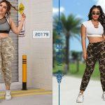 خرید شلوار جین زنانه و دخترانه چریکی سایزبزرگ در دو مدل مختلف