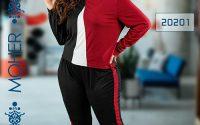 خرید ست بلوز شلوار راحتی دخترانه سایزبزرگ رنگ قرمز و مشکی