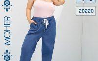 خرید شلوار لی راحتی دمپاکش زنانه و دخترانه پلاس سایز رنگ آبی