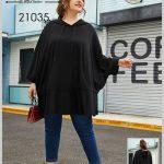 خرید هودی زنانه و دخترانه مدل خفاشی مشکی سایزبزرگ